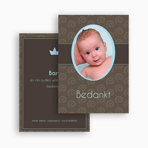 Bedankkaartje geboorte zoon - Chic op de cover 21037 thumb