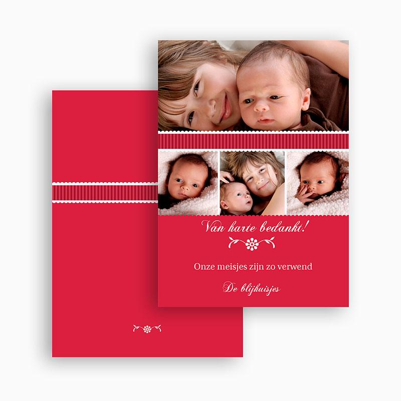 Bedankkaartje geboorte dochter - De eerste dag 21038 thumb