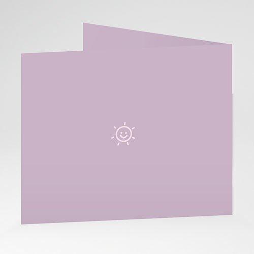Geboortekaartjes Meisje Retro roze zonnetje gratuit