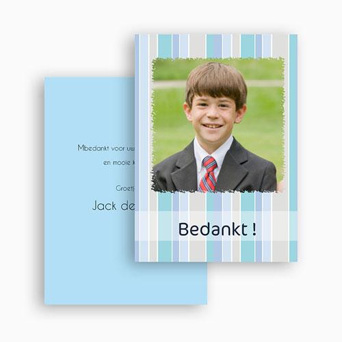 Bedankkaart communie jongen tot Hem gratuit