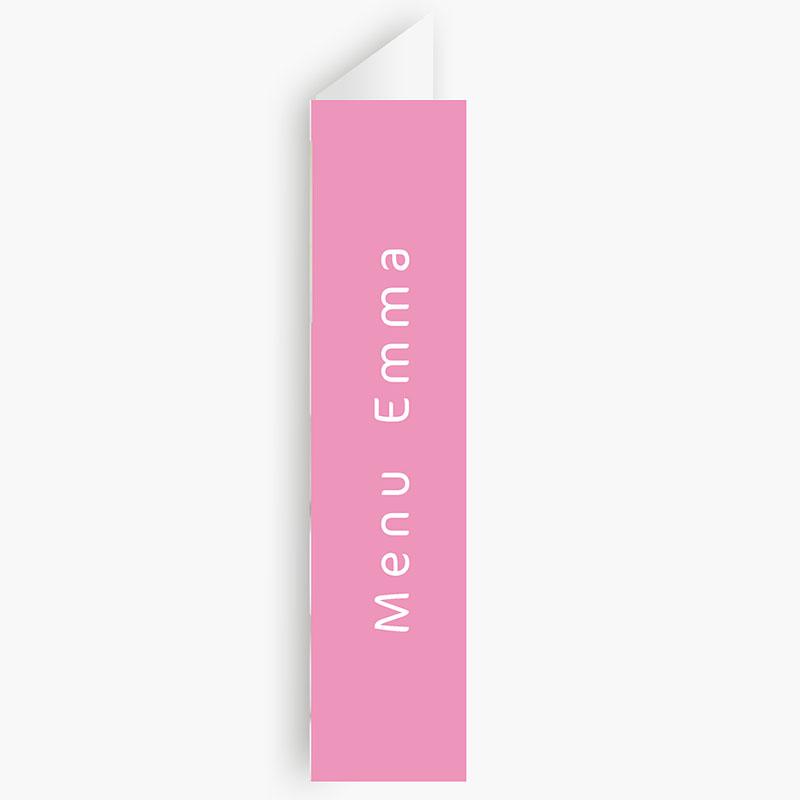 Menukaarten Communie Bruidsuikers roze gratuit