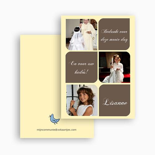 Bedankkaart communie meisje Foto's en symbolen gratuit