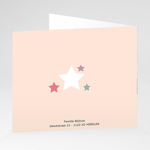 Geboortekaartje meisje - De roze ster 21278 thumb