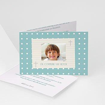 Uitnodiging communie jongen - dagboek van een leven - 7