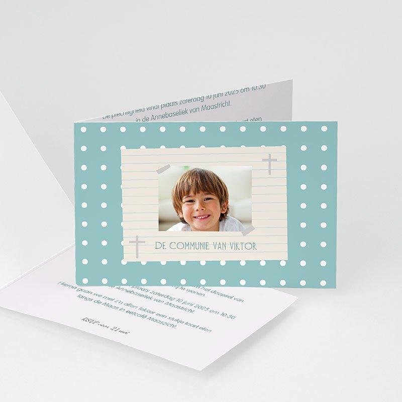 Uitnodiging communie jongen - dagboek van een leven 21476 thumb