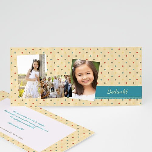 Bedankkaart communie meisje - Dentelle 21485 thumb