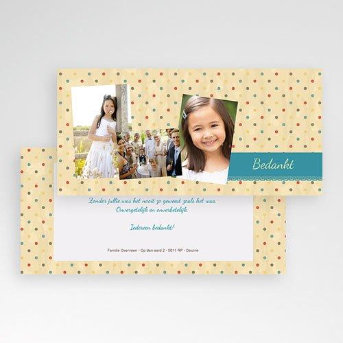 Bedankkaart communie meisje - Dentelle 21486 thumb