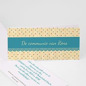 Uitnodiging communie meisje -  - 7