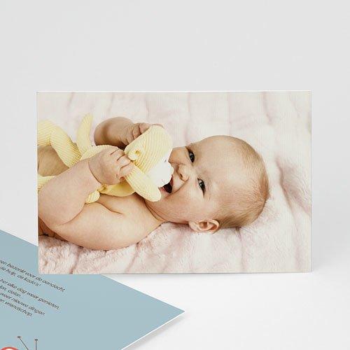 Bedankkaartje geboorte dochter Scoop T.V