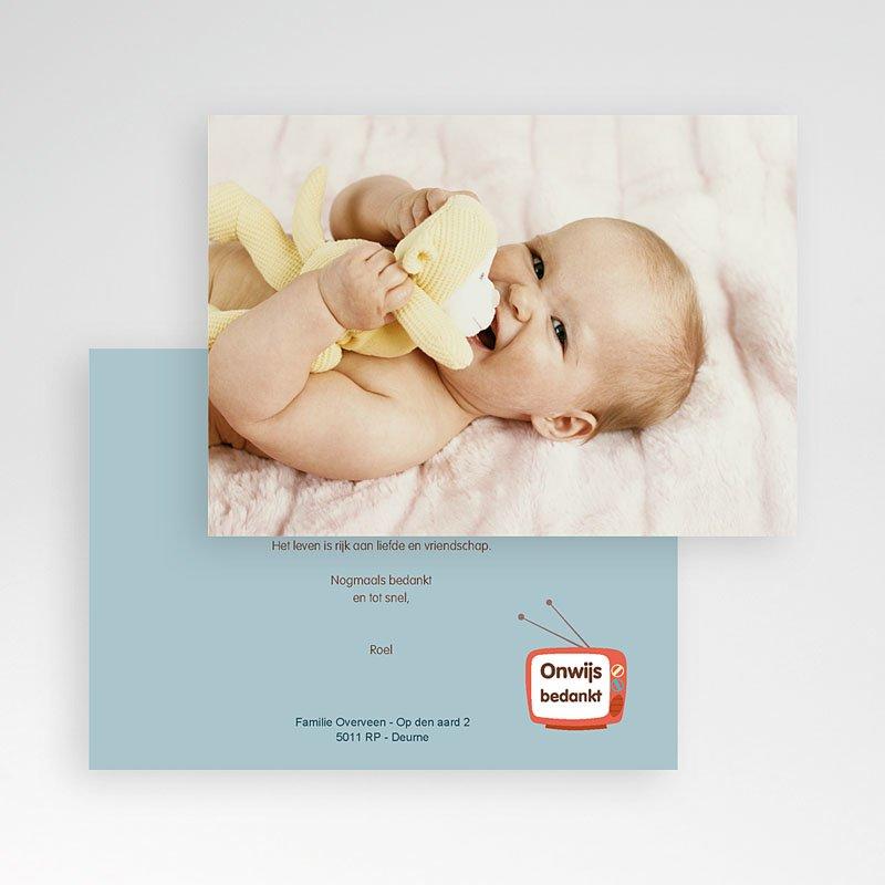 Bedankkaartje geboorte dochter Scoop T.V pas cher