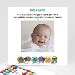 Bedankkaartje geboorte dochter Schaapjes peleton