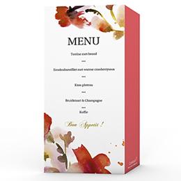 Personaliseerbare menukaarten huwelijk huwelijk kaartje 4272