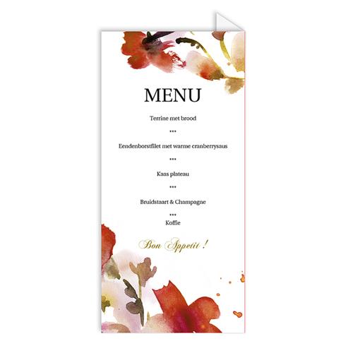 Personaliseerbare menukaarten huwelijk huwelijk kaartje 4272 pas cher