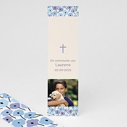 Boekenlegger - Fleurs bleues - 1