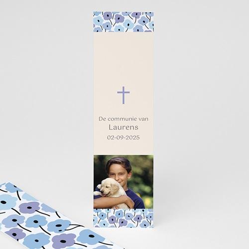 Boekenlegger - Fleurs bleues 21587 thumb