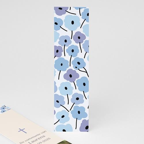 Boekenlegger - Fleurs bleues 21588 thumb