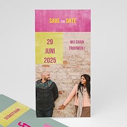 Save the date Huwelijk in fluo