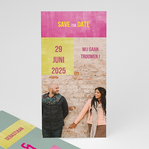 Save the date kaartjes - in fluo 21796 thumb
