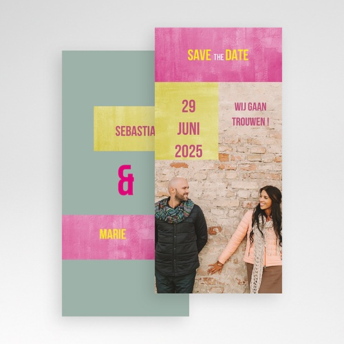 Save the date kaartjes - in fluo 21797 thumb