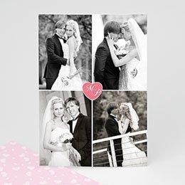 Bedankkaartjes Huwelijk vier om het hart