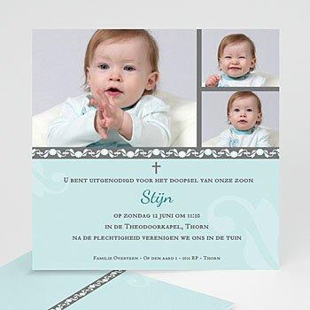 Doopkaartje jongen - doopkaart 03458 - 7