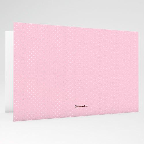 Geboortekaartje meisje Geluksgetal vier, roze gratuit