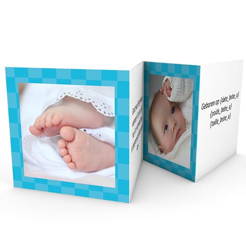 Geboortekaartje jongen - Blauw zonnetje 21946 thumb