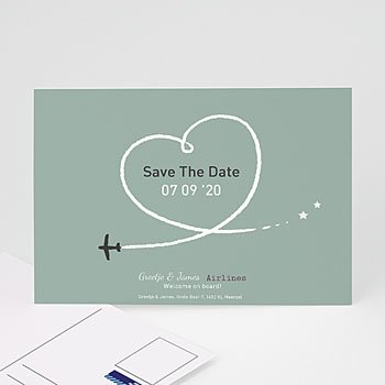 Save the date kaartjes - Samen op reis - 7