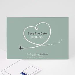 Save the date kaartjes Samen op reis
