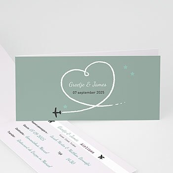 Personaliseerbare trouwkaarten - Samen op reis - 7