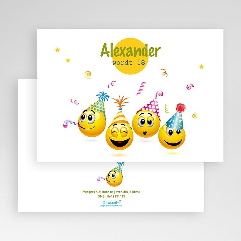 Verjaardagskaarten volwassenen Smiley gratuit