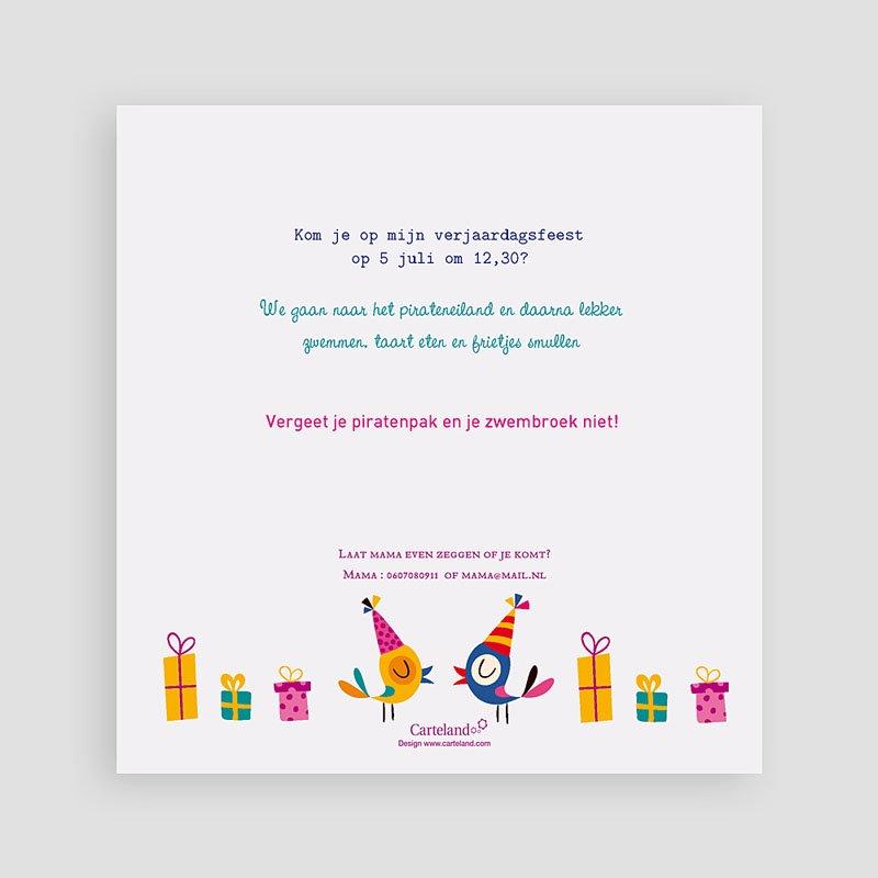 Verjaardagskaarten jongens - Piraten feest 22073 thumb