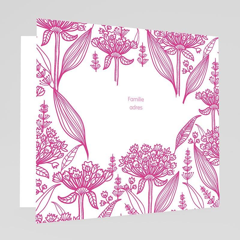 doopkaartje meisje doopviering roze. Black Bedroom Furniture Sets. Home Design Ideas