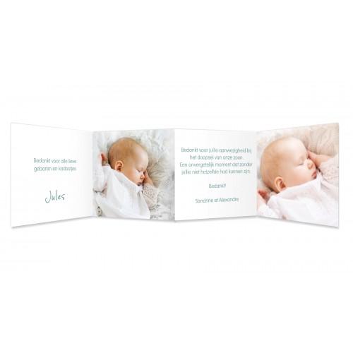Bedankkaart doopviering jongen - Uitnodiging 22141 thumb