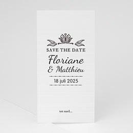 Save the date kaartjes Ornement Vintage