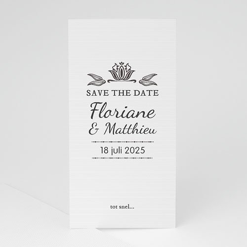 Save the date kaartjes - Ornement Vintage 22270 thumb