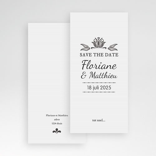 Save the date kaartjes - Ornement Vintage 22271 thumb