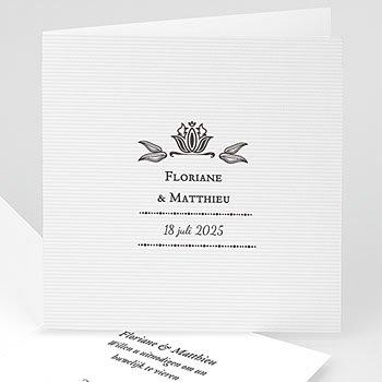 Klassieke trouwkaarten - Ornement Vintage - 1