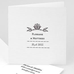 Personaliseerbare trouwkaarten - Ornement Vintage - 1