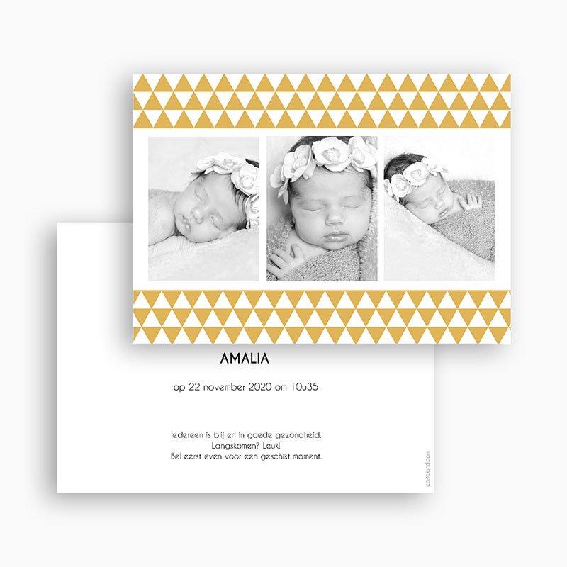 Geboortekaartje meisje - Klassiek retro 3 foto's 22387 thumb