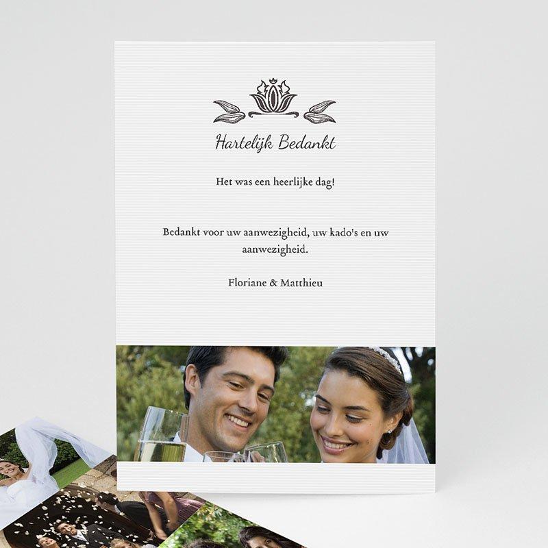 Bedankkaartjes huwelijk ornement vintage zokaartjes