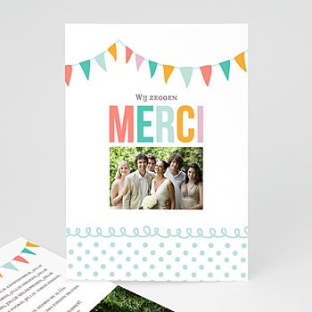 Bedankkaartjes huwelijk - Merci bedankkaartje huwelijk - 1