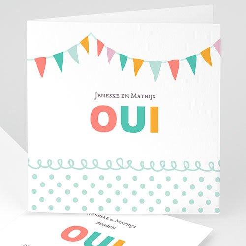 Personaliseerbare trouwkaarten - Merci bedankkaartje huwelijk 22572 thumb