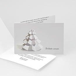 Professionele wenskaarten Nouvel An papieren kerstboom