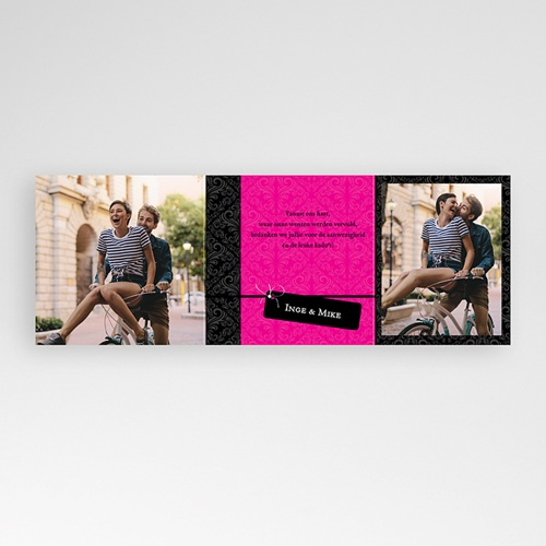 Bedankkaartjes samenlevingsovereenkomst - Roze save the date 22895 thumb