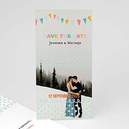 Save the date kaartjes Merci bedankkaartje huwelijk