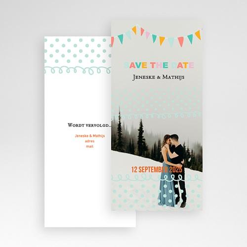 Save the date kaartjes - Merci bedankkaartje huwelijk 22947 thumb