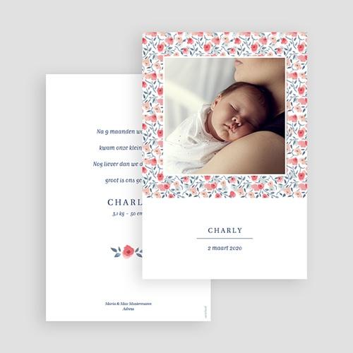 Geboortekaartjes Meisje Knoopje in de zakdoek gratuit