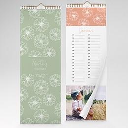 Jaarkalender - Bloemenkalender - 1