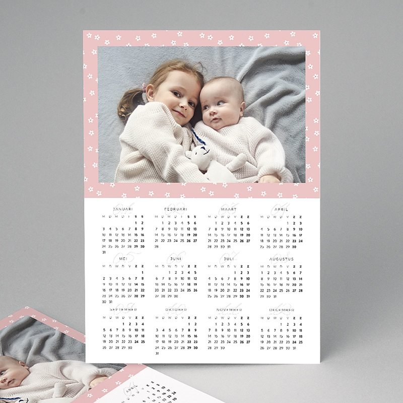 Kalender jaaroverzicht - Bloemenkalender 2 23381 thumb